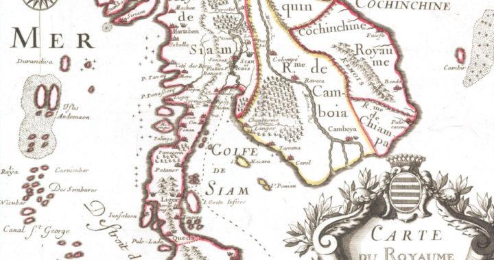 La carte du Royaume de Siam de 1686
