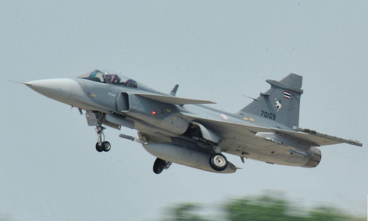 Avion de chasse Thaïlande JAS 39 Gripen de l'armée thaïe