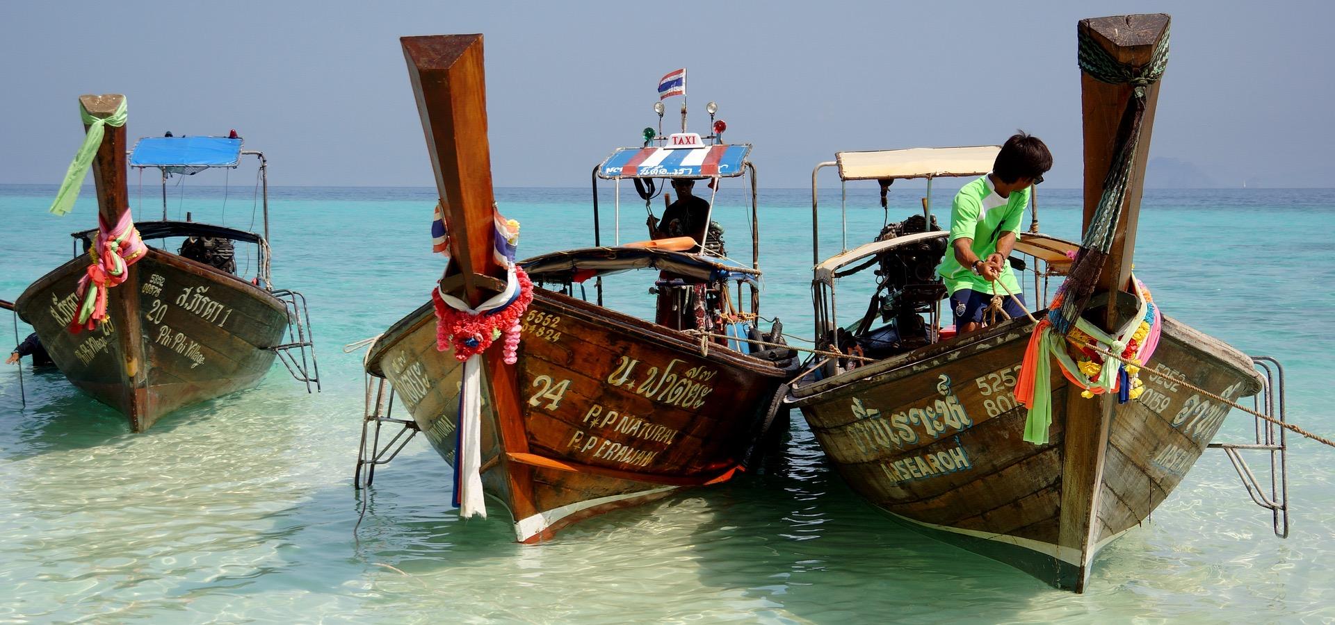 krabi carte postale bateau a longue queue
