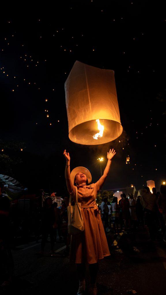 Festival des lanternes a Chiangmai