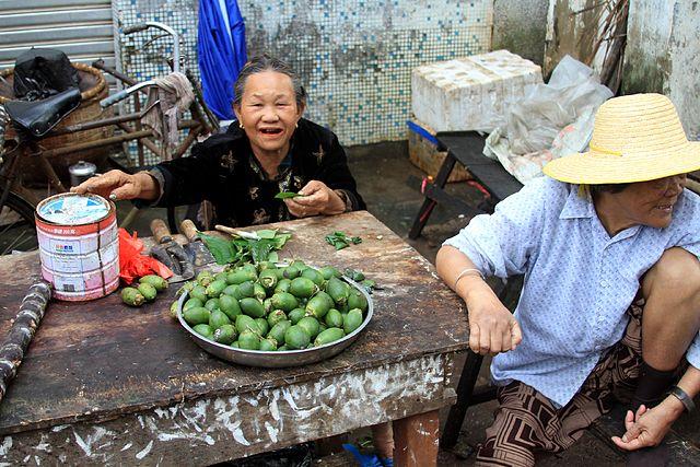 Preparation de Maak vendeurs rue thailande