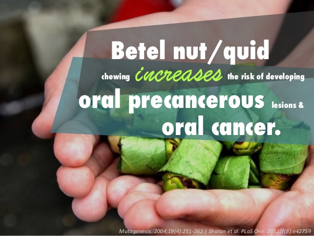 Prevention du cancer du a la consommation de noix de betel