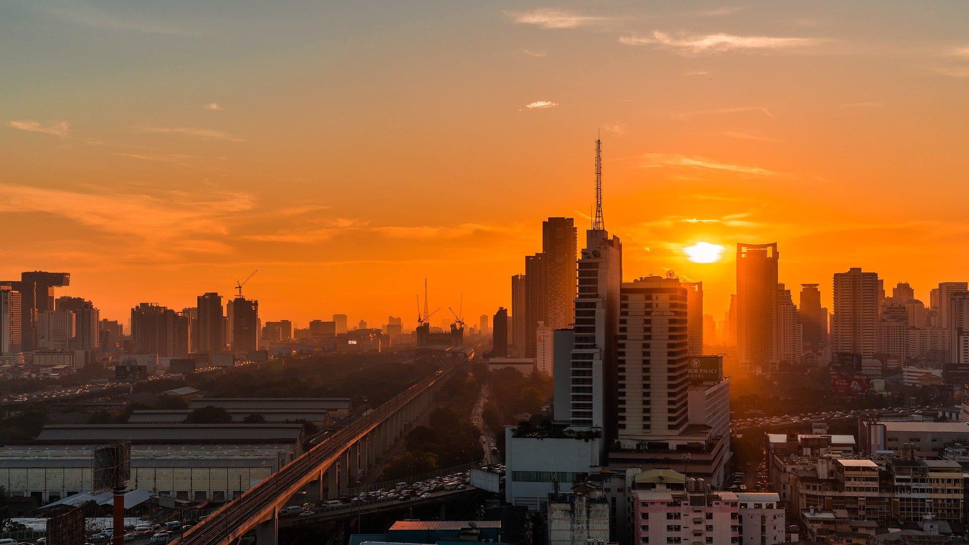 bangkok soleil couchant