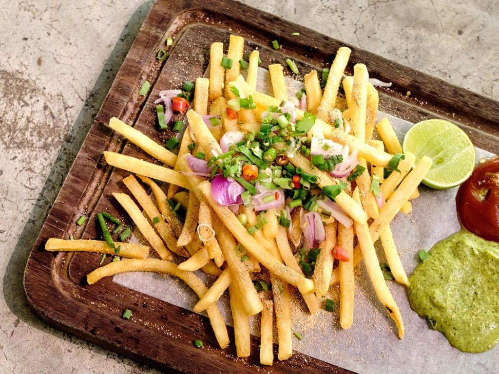 fusion food thai larb frites