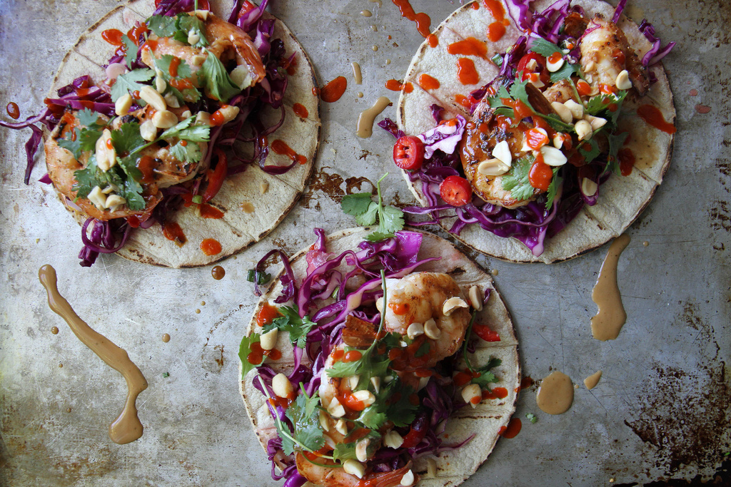 fusion food thai tacos