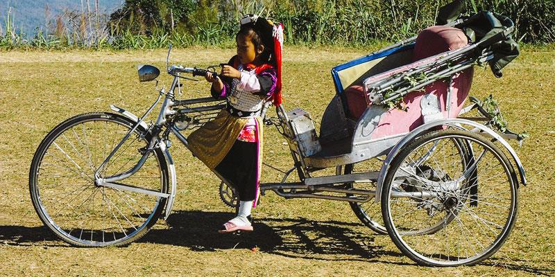 Samlor – le tricycle Thaïlandais