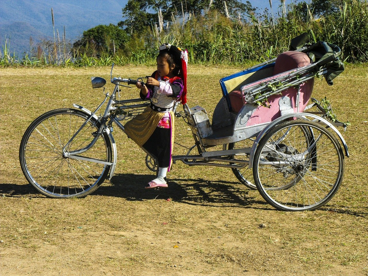 Samlor – le tricycle Thaïlandais